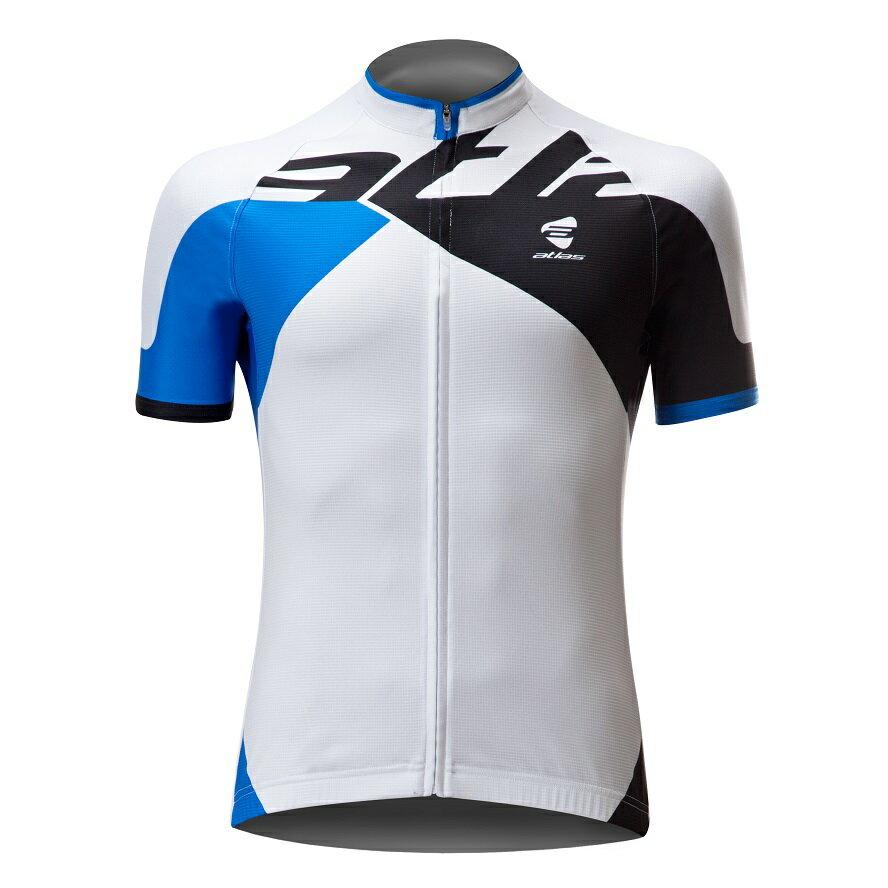 Atlas 亞特力士 Italy設計短袖車衣-基本款 NJ-159-BU(藍/白) 24℃~30℃