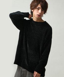 寬版針織衫黑色