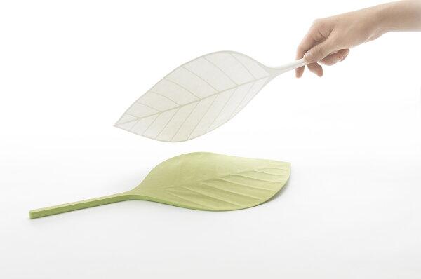 [+d]樹葉扇子趣味造型涼爽夏日D-790-WHGRLGYL