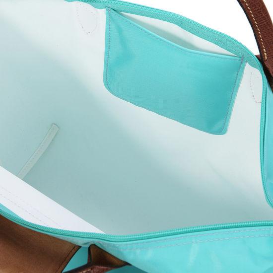 [1623-M號]國外Outlet代購正品 法國巴黎 Longchamp  短柄 購物袋防水尼龍手提肩背水餃包 湖綠色 3