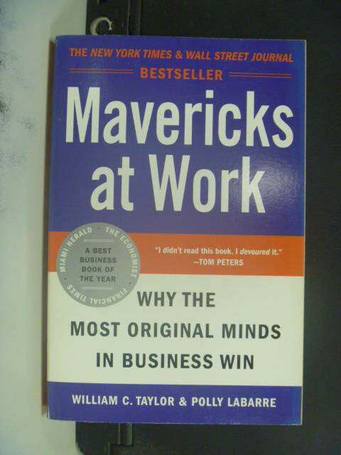 ~書寶 書T5/原文小說_ONC~Mavericks at Work_Taylor