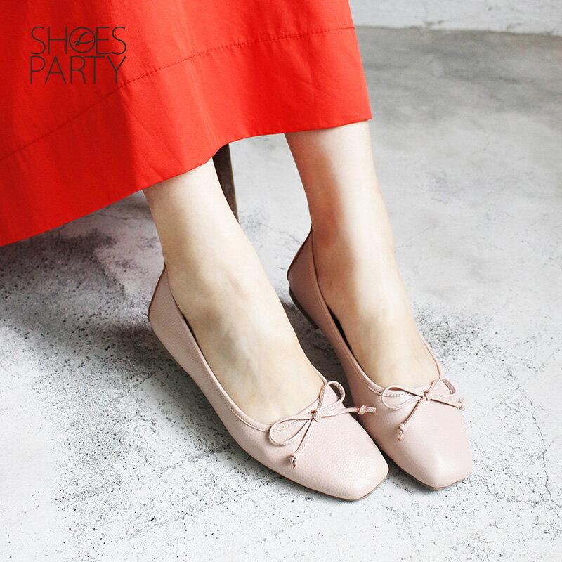 【F2-18910L】氣質小方頭芭蕾舞鞋_Shoes Party 6