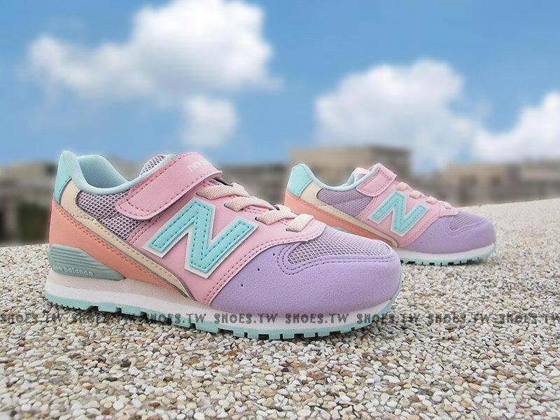 Shoestw【KV996VPY】NEW BALANCE 996 童鞋 運動鞋 中童 薰衣草紫 粉紅橘