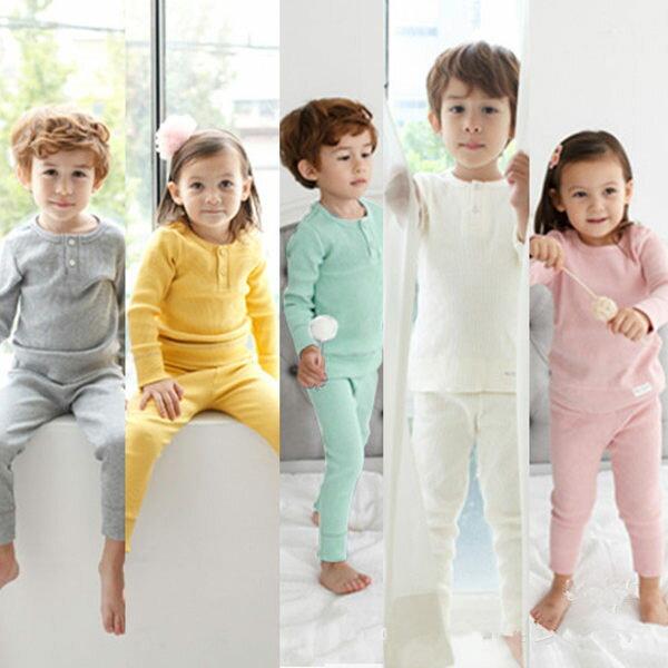馬卡龍兒童長袖套裝 寶寶秋冬童裝 保暖棉質上衣褲 SK9211 好娃娃