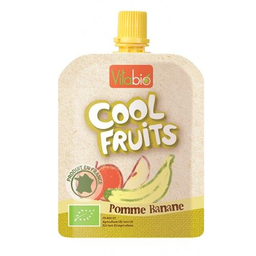 【安琪兒】法國【倍優babybio】VITABIO 有機優鮮果-蘋果、香蕉90g(12個月以上)