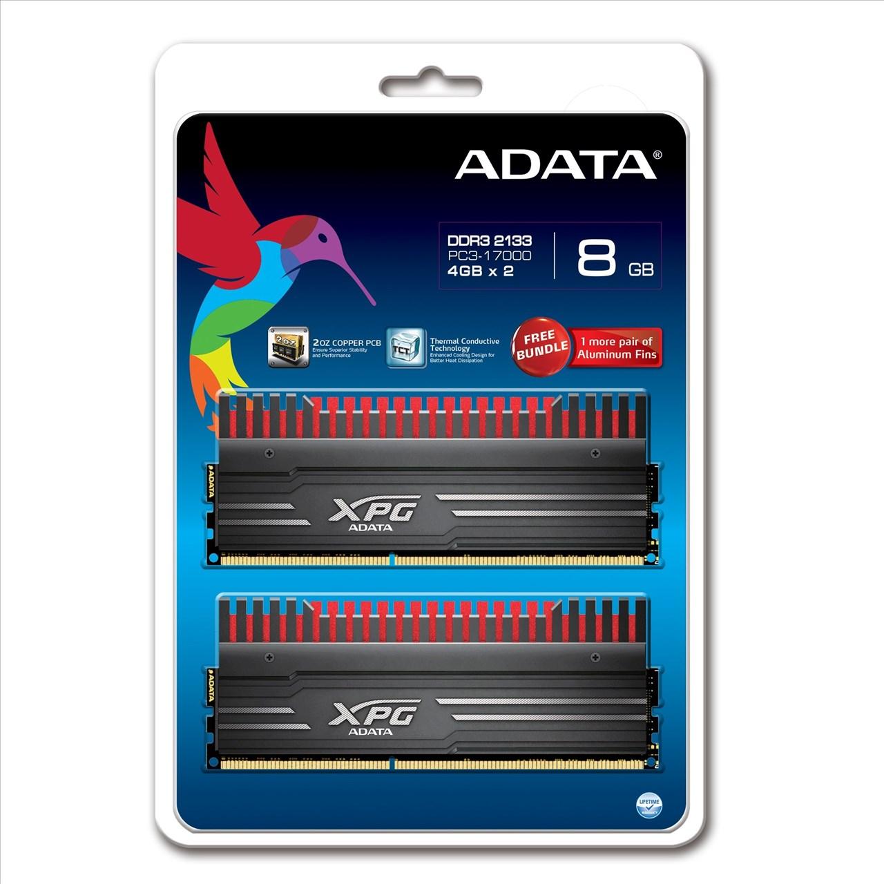 【新風尚潮流】威剛 XPG V3 超頻 8G DDR3-2133 AX3U2133W4G10-DBV-RG