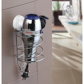 雙慶節省空間吸盤電吹風架 吹風機掛架(品質保證 )
