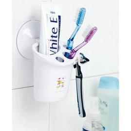 雙慶吸牆牙刷筒 多功能牙刷牙膏架 剃鬚刀多功能架(品質保證 )
