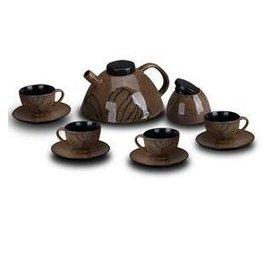 亞馬遜風情 咖啡器具 咖啡套具 咖啡壺 咖啡杯 糖罐 碟子 雪狼