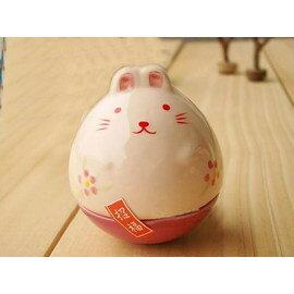 不倒翁招財兔/創意禮物禮品招財貓系列之不倒翁2個粉兔和兔帝、兔后(4個一組)【如有積分此商品也可以179200積分免費兌換哦!】