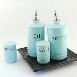 歐式陶瓷油醋瓶4件套