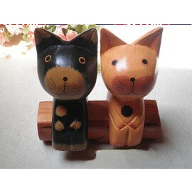 樹樁貓 大號(貓咪+椅子高:20cm,椅子長度:19cm)