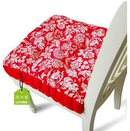 方形家居坐墊 富貴花花紋靠墊系列-大紅色 家居軟裝用品(40*40*10cm)