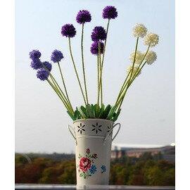歐式田園風格 鐵藝手繪牡丹花花瓶 家居飾品(15*12*18cm )