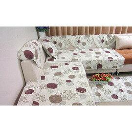 紫色風情 圓圈田園全棉絎縫布藝沙發墊 飄窗墊/沙發墊 90*70cm