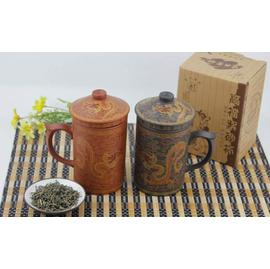 紫砂麥飯石杯壺全手工過濾網片茶杯茶具