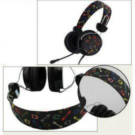 頭戴式帶麥耳機 長線電腦耳麥麵條扁線 -5601007