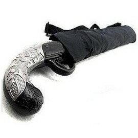 古典西洋槍二折晴雨傘刀傘 古典與 的結合防輻射長柄報紙傘~7201007