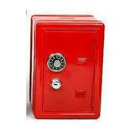 迷你保險箱造型存錢罐 沒密碼打不開雙層密碼存錢罐 保險櫃儲錢罐長11.5 x 寬9.5 x 高17.5cm-7201007