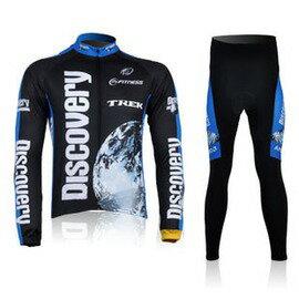 【騎行長袖套裝-探索】車隊版自行車服騎行服長袖套裝男士款-5501001