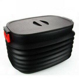 汽車置物箱 車用收納箱 雜物整理箱 車載塑膠箱 大號帶蓋45*35*30cm-5201006