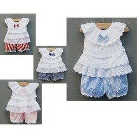 夏季新款嬰兒服飾0-2歲女寶寶套裝可開檔百日照-7701007