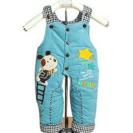 背帶棉褲 可開檔棉褲 加厚 嬰兒童寶寶背帶褲~1歲~7701007