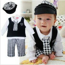 嬰兒服裝寶寶衣服 一周歲生日 滿歲寶寶春裝韓版男嬰兒裝-7701007