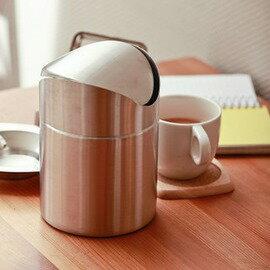 搖蓋不鏽鋼垃圾桶 臺上桌面垃圾桶 時尚創意韓國廚房用具-6001004