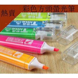 韓版可愛卡通文具 螢光筆 彩色記號筆 可愛瑩光筆 六色(6入裝)-5801003