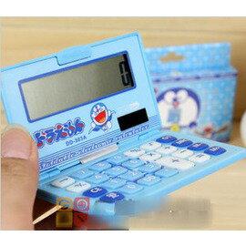 創意翻蓋計算機 可愛叮噹貓彩色學生卡通計算器 太陽能-5801003