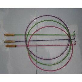 彩色滾鐵環 實心鐵圈 鍍鋅鐵環 鍛煉平衡能力的好玩具 環直徑37cm^~桿長61cm~78