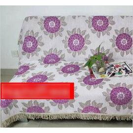 【 布藝沙發巾180x230cm】紫圓點雪尼爾全蓋型歐式防滑 -7101008