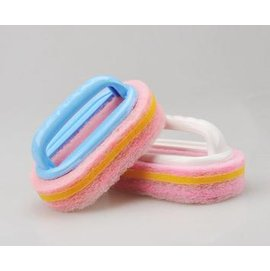 【浴缸清潔刷】衛浴清潔工具 塑膠把手加厚強力百潔布 新款-6001005