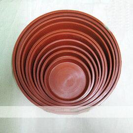 【圓形花盆底碟Z200】塑膠托盤5個一組(可混合) 底徑17*2.6cm-5101002