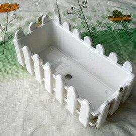 【C330長條柵欄盆】長方形塑膠圍欄花盆 31*15*10.5cm-5101002