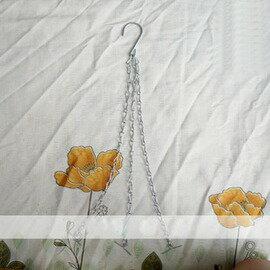 【T450鐵吊鉤】花盆吊鉤 吊籃鐵鍊 長45cm 重約60g 最低起訂量10支-5101002