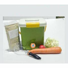 【廚餘堆肥桶-12L】12升廚餘發酵桶1個+耙子1把+EM發酵菌糠300g+量杯+膠囊10粒 24*24*24cm-5101001