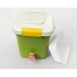 【廚餘堆肥桶-21L】21升廚餘發酵桶1個+耙子1把+EM發酵菌糠500g+量杯+膠囊30粒-5101001