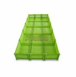 【種植箱-15聯單層】15聯單層種植箱 超大種菜盆環保塑膠花盆 組合種植箱 225*96*24cm(預購&量大可選海運)-5101001