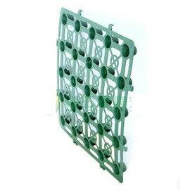 【植草排水板-PP-39.6*39.6*2cm(0.157)-350個/組】園林花園綠化專用植草排水板磚草坪塑膠蓄水排水板車場公園草皮網-5101011