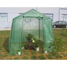 【小型溫室-加強版-尖頂-240*220*215cm-1套/組】溫室暖房花房 溫室罩 陽臺種菜設備 保溫大棚-5101013