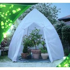 【小型溫室-尖頂-直徑160*280cm-1套/組】加大型溫室暖房花房 陽臺菜園種菜設備 保溫大棚 保溫罩-5101013