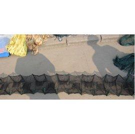 【折疊網-1.8米10節8門-框架18*22cm-2個/組】折疊魚網蝦籠蝦網 龍蝦籠 捕魚籠 捕蝦網 抓蟹籠 地籠 漁網漁具-5101015