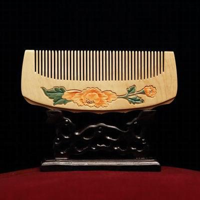 【小葉黃楊木梳篦-158(精裝)-多款可選-1款/組】特色工藝品木梳子簡約實用防靜電(不含木架)-30011