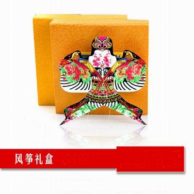 【沙燕風箏 -6-彩印描金 絹絲手繪-2款 組】濰坊特色風箏 傳統特色小 多款可選(可混搭)-30012