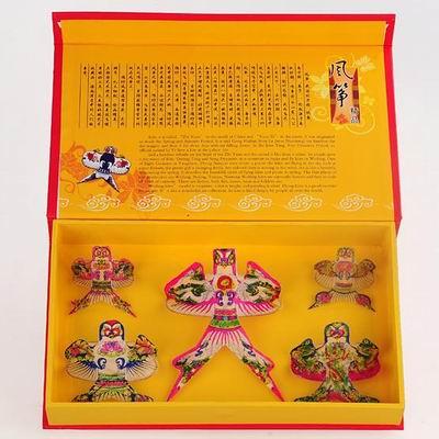 【五沙燕風箏禮盒-小號-26*15*4cm-1套/組】濰坊特色風箏禮品禮盒傳統特色小禮品,多圖案可選-30012