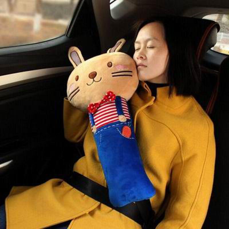 【車用兒童護肩套-C款大號卡通-23*50cm-1個/組】寶寶嬰兒汽車安全帶護肩套-527004