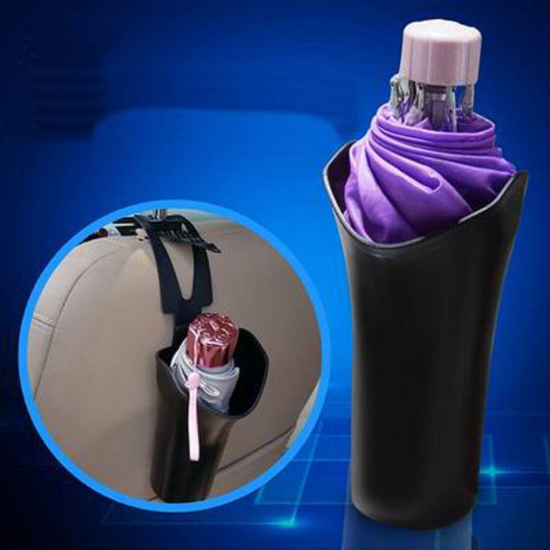 【車載多功能雨傘桶-ABS/PE-19*9.5*9.5cm-2套/組】車載掛式收納筒垃圾桶多功能袋-527004