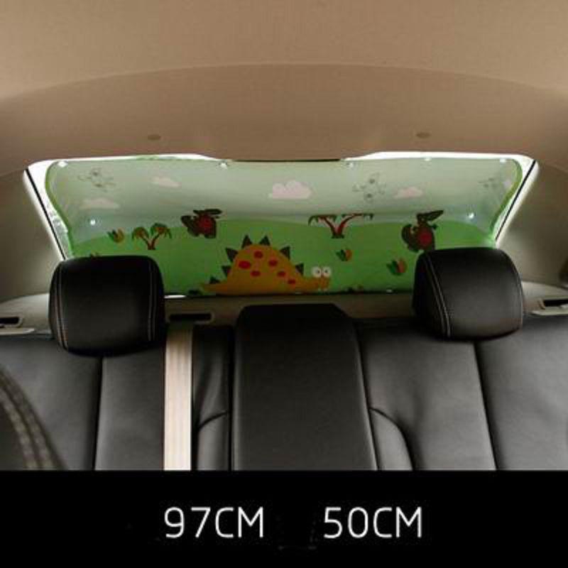 【吸盤式汽車後窗窗簾-97*50cm-1套/組】卡通遮陽簾防曬伸縮隔熱簾擋遮光-527004
